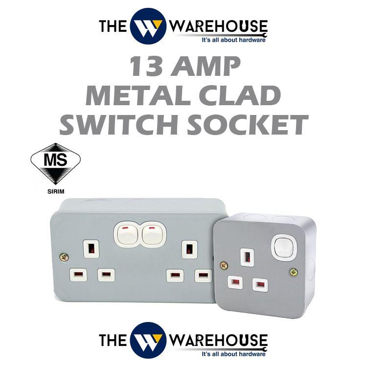 13 Amp Metal Clad Switch Socket