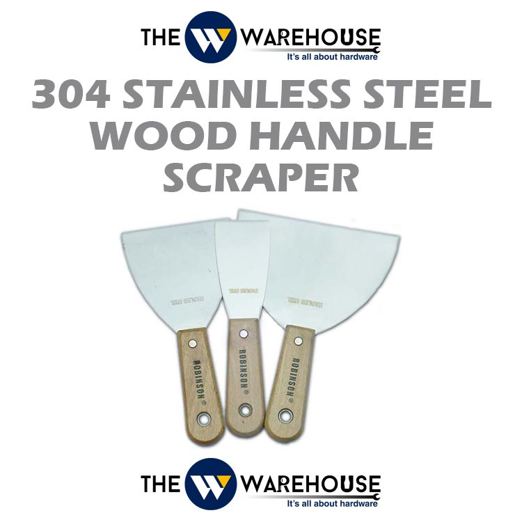 304 Stainless Steel Wood Handle Scraper