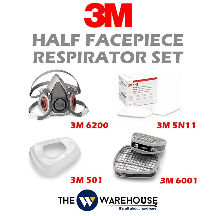 3M Half Facepiece Respirator 6200 Set