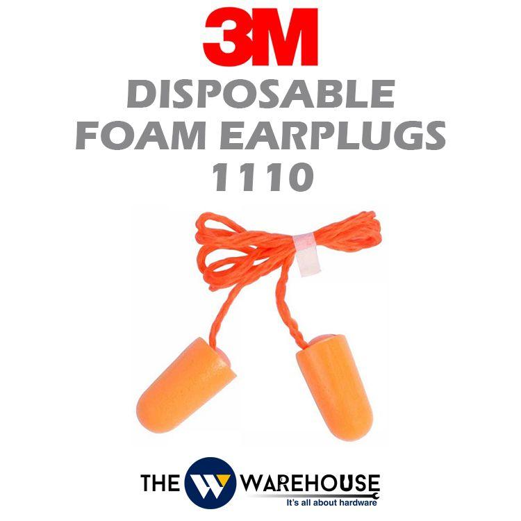 3M Disposable Foam Earplugs 1110