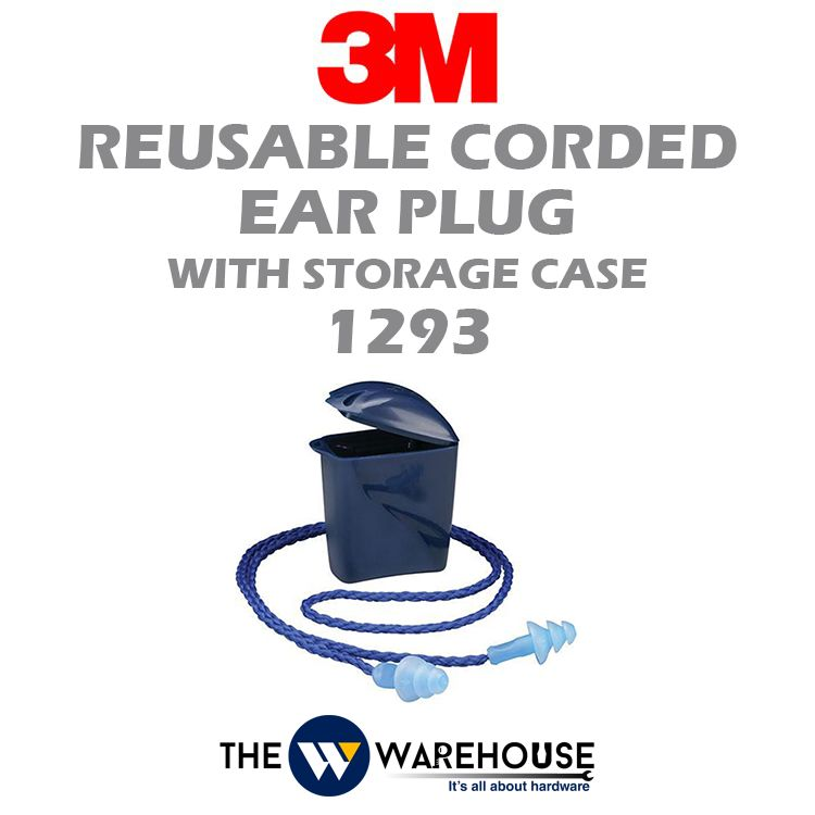 3M Reusable Corded Ear Plug with Storage Case 1293