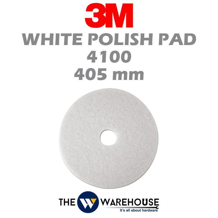 3M White Polish Pad 4100