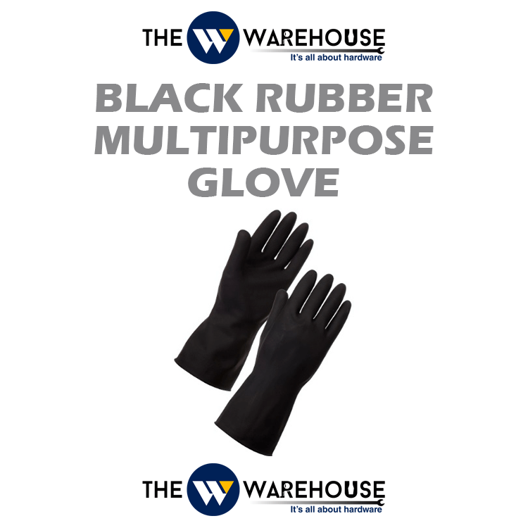 Black Rubber Multipurpose Glove