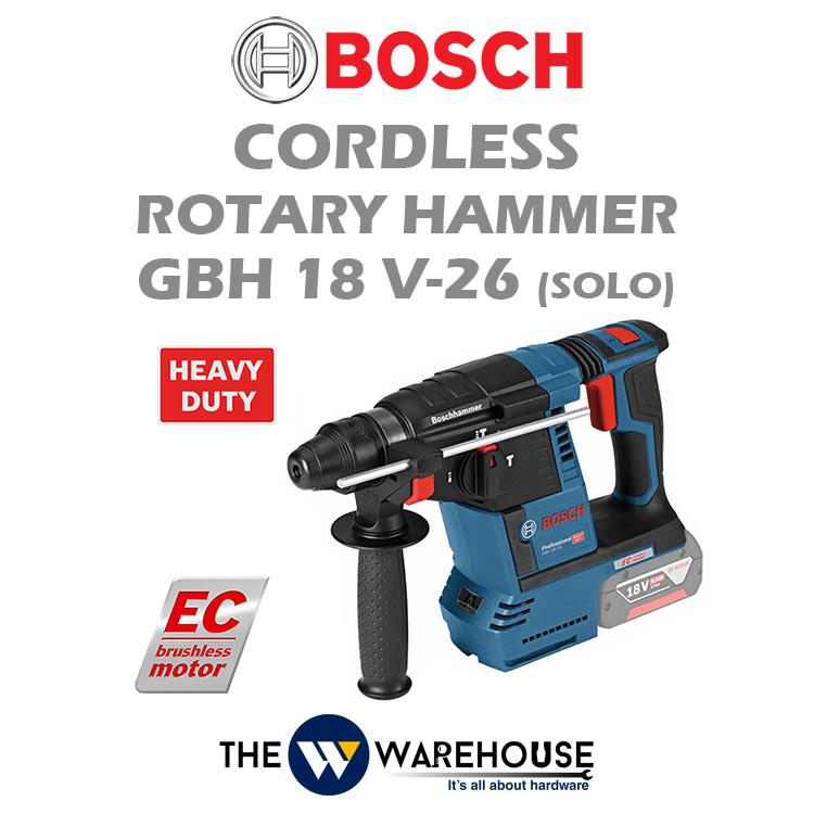 Bosch Cordless Rotary Hammer GBH 18 V-26 (SOLO)