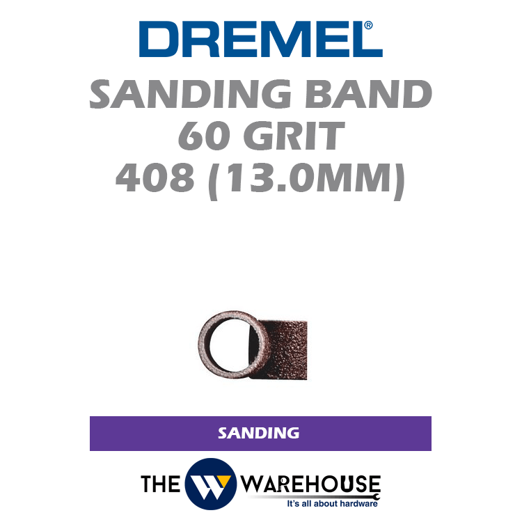 Dremel 430 2 x 6.4mm Sanding Band and Mandrel Coarse 60 Grit