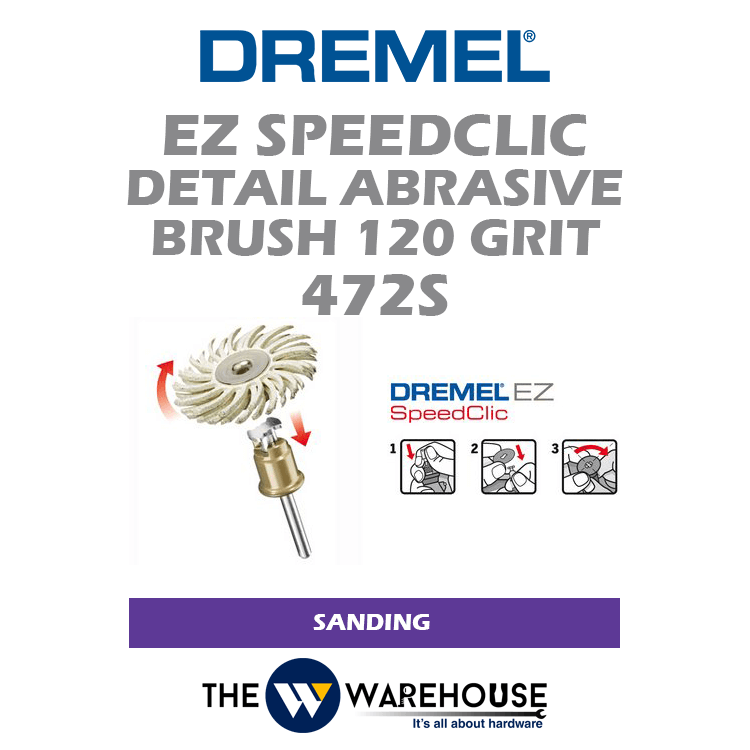 Dremel EZ SpeedClic Detail Abrasive Brush G120 472S