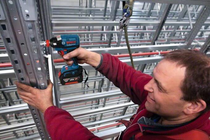Bosch Cordless Impact Wrench GDX 18 V-EC