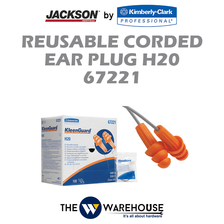 Jackson Safety H20 Reusable Corded Ear Plug 67221