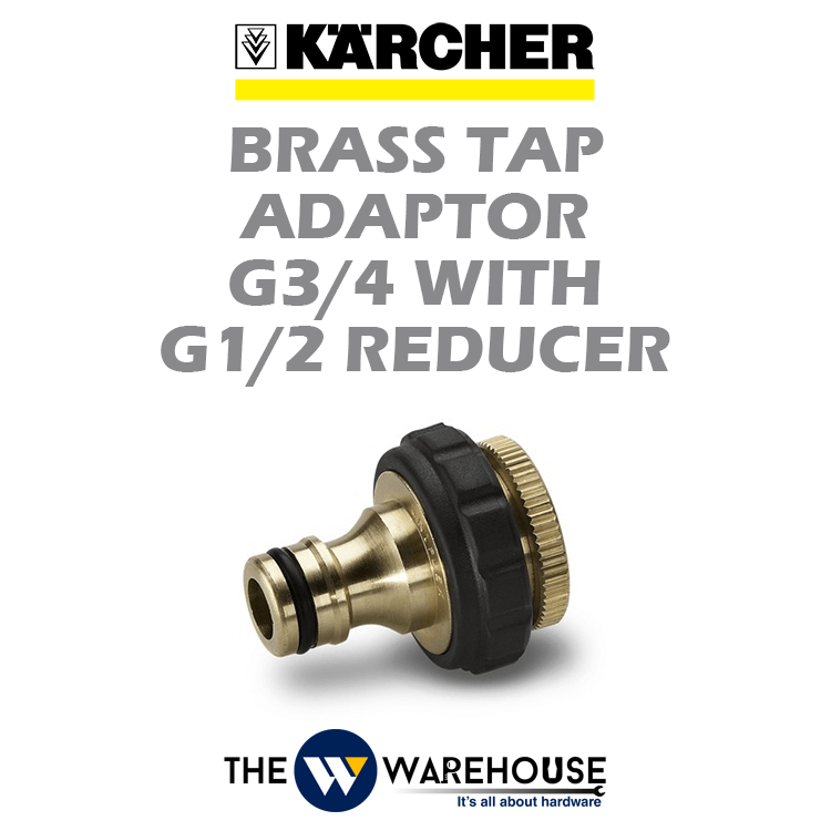 Karcher Brass Tap Adaptor G3/4 with G1/2 Reducer