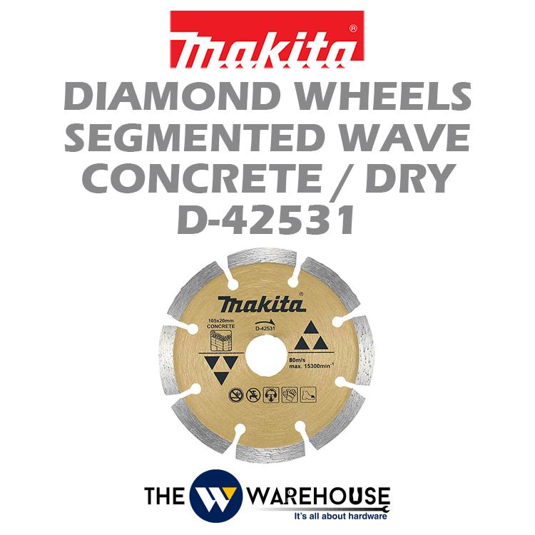 Makita Diamond Wheels Segmented Wave D-42531
