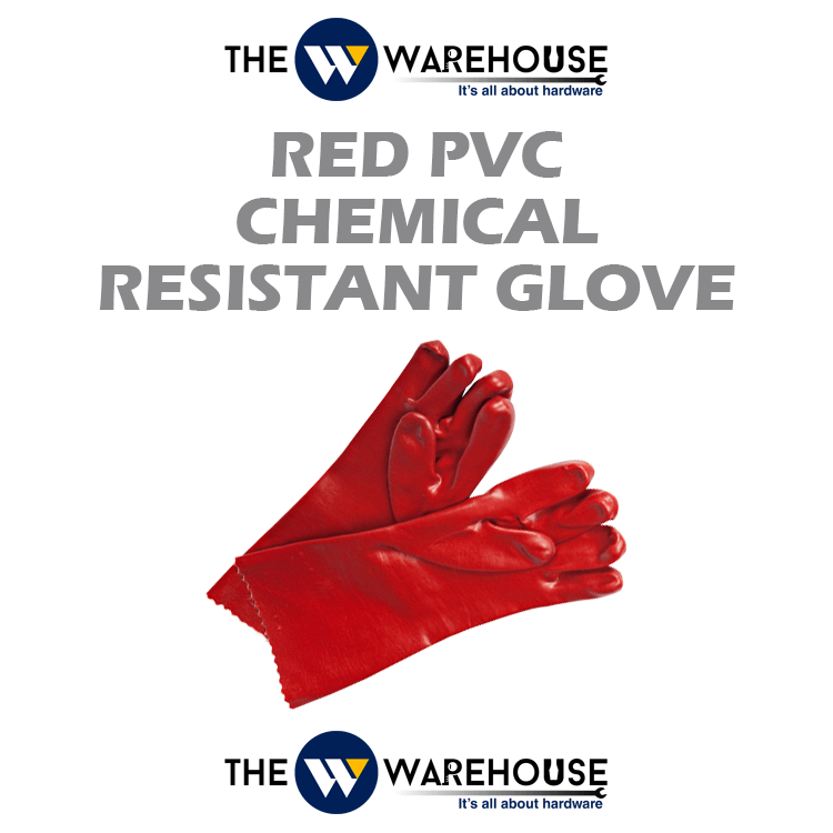 Red PVC Chemical Resistant Glove