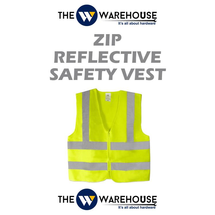 Zip Reflective Safety Vest