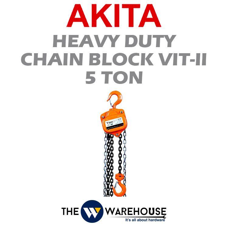 Akita Heavy Duty Manual Chain Block VIT-II Type 5 ton