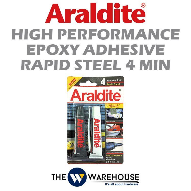 Araldite High Performance Epoxy Adhesive Rapid Steel 4 Min
