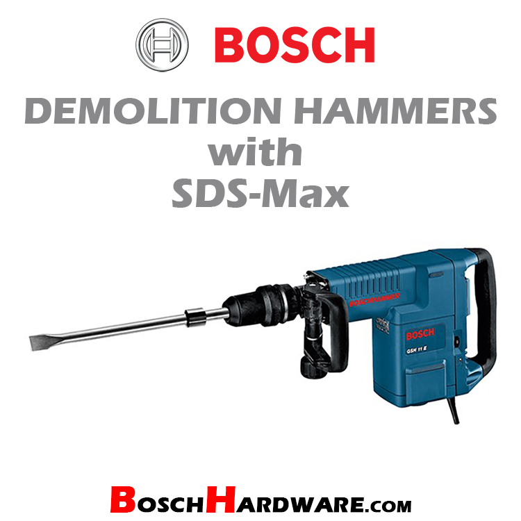 Demolition Hammers with SDS-Max
