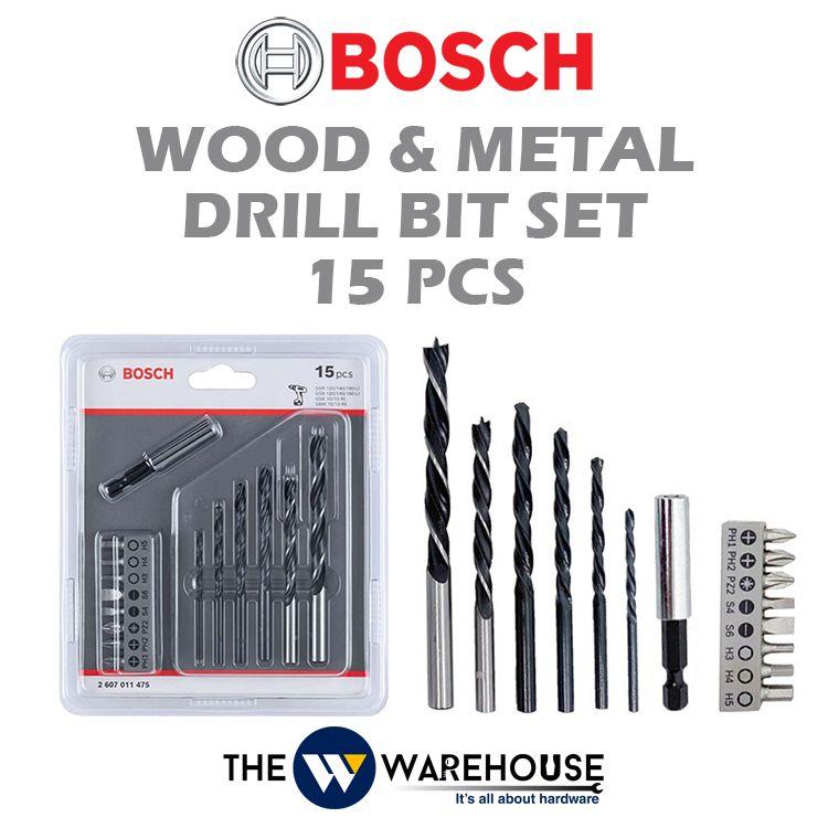 Bosch 15 pcs Wood and Metal Drill Bit Set 2607011475