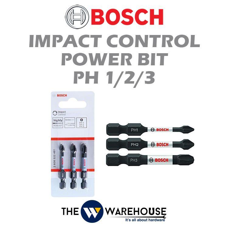 Bosch 3 pcs Impact Control Power Bit Set 2608522491