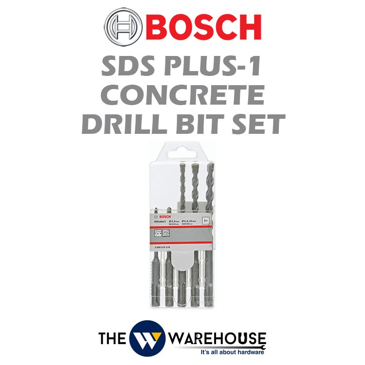Bosch 5 pcs SDS Plus-1 Concrete Drill Bit Set 2608579119