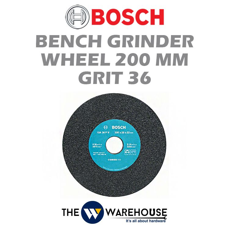 Bosch 200 mm Bench Grinder Wheel Grit 36 2608600111