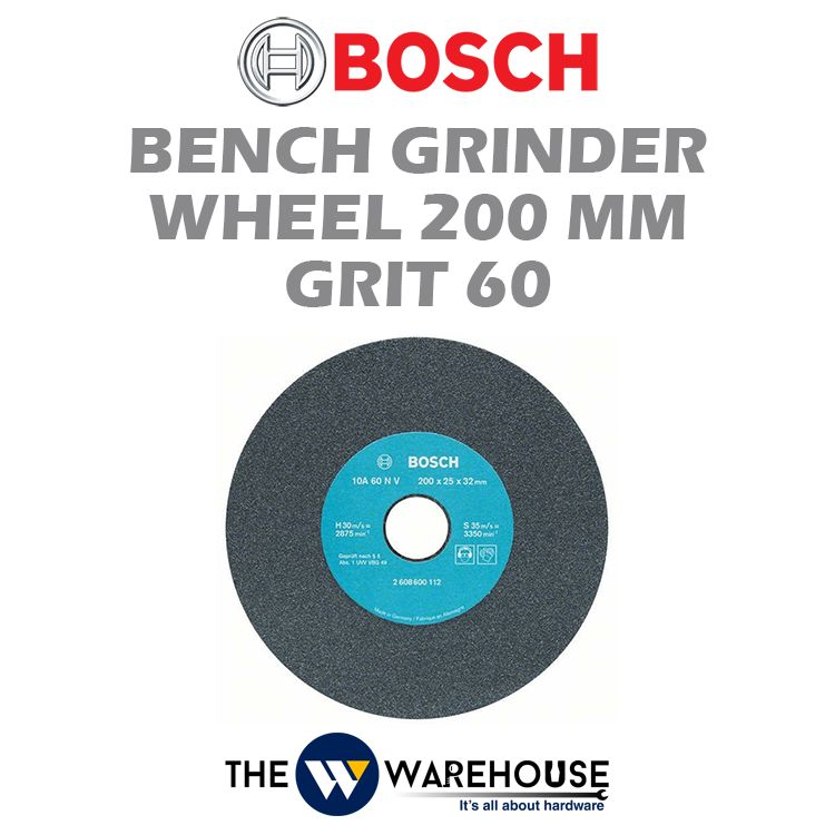Bosch 200 mm Bench Grinder Wheel Grit 60 2608600112