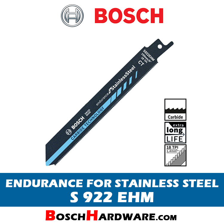 BOSCH ENDURANCE FOR STAINLESS STEEL S922EHM 2608653097 BH