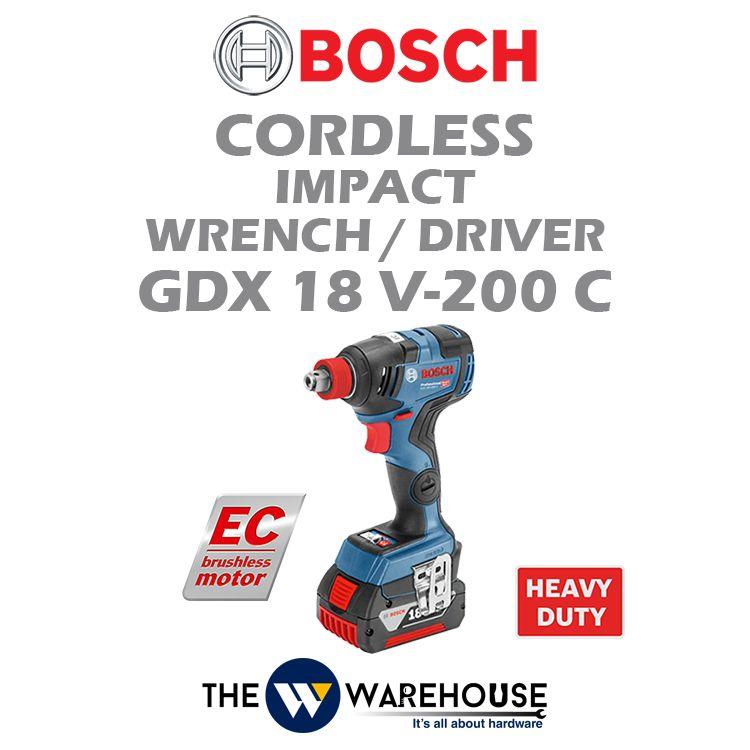 Bosch Cordless Impact Wrench GDX 18 V-200 C