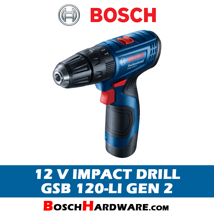 Bosch 12V Cordless Impact Drill GSB 120-LI Gen 2