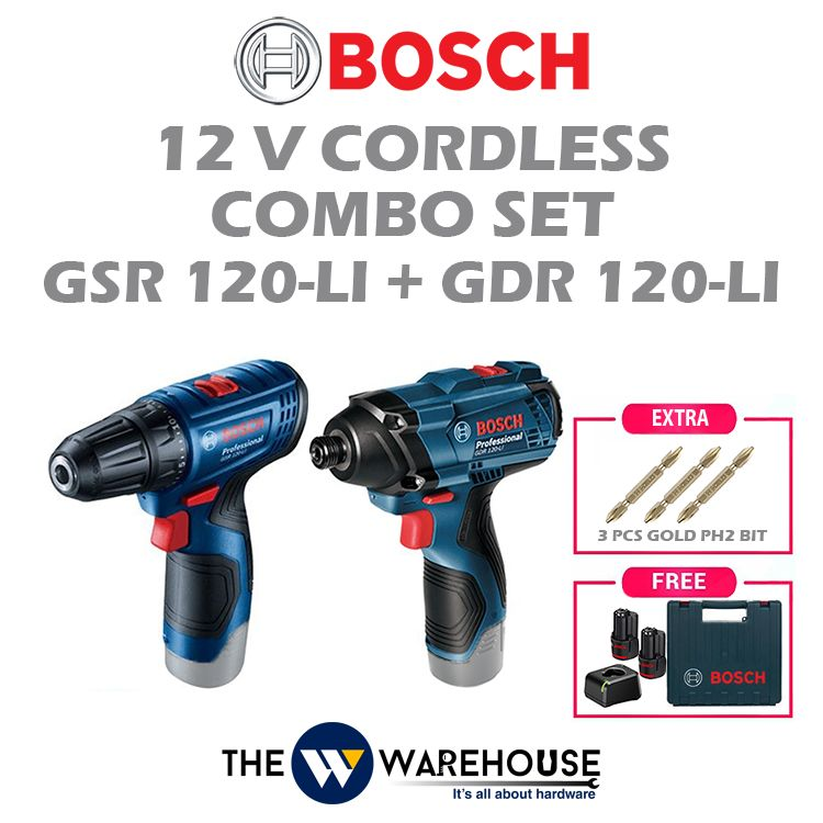 Bosch GSR 120-Li Impact Driver + GDR 120-Li Cordless Drill