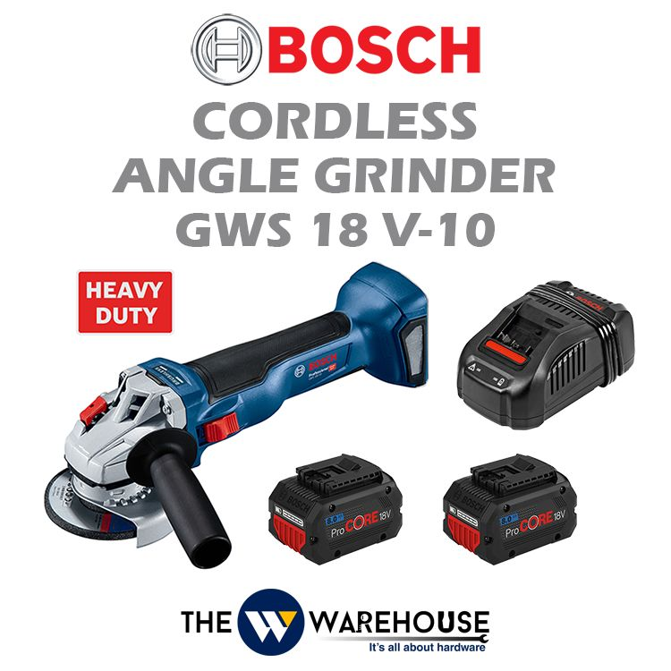 Bosch Cordless Angle Grinder GWS 18V-10