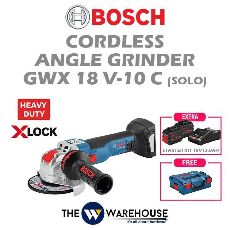 Bosch Cordless Angle Grinder X-Lock GWX 18V-10C (Solo)