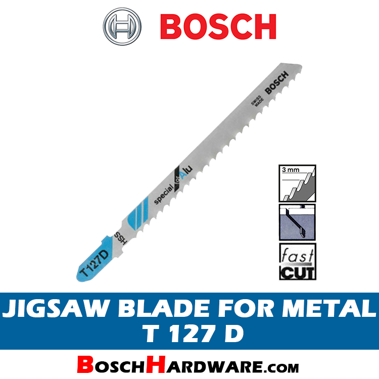 Bosch Jigsaw Blade for Metal T127D 2608631017 BH