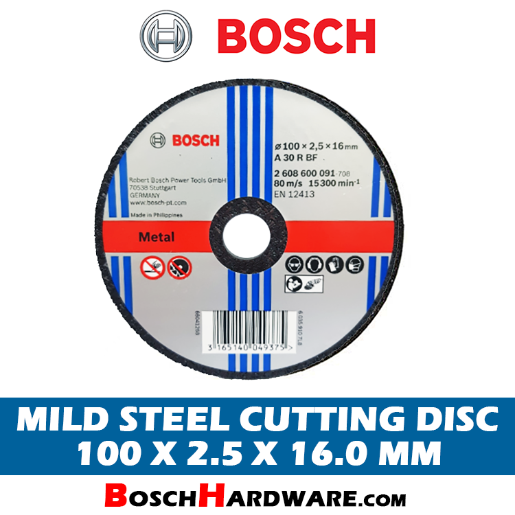 Bosch Mild Steel Cutting Disc 4 inch 2608600091