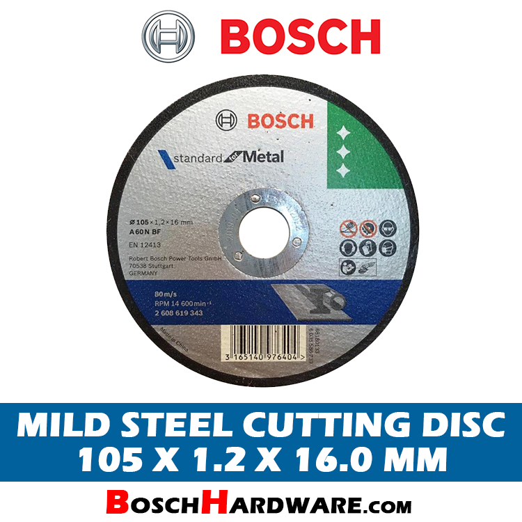 Bosch Mild Steel Cutting Disc 4 inch 2608619343