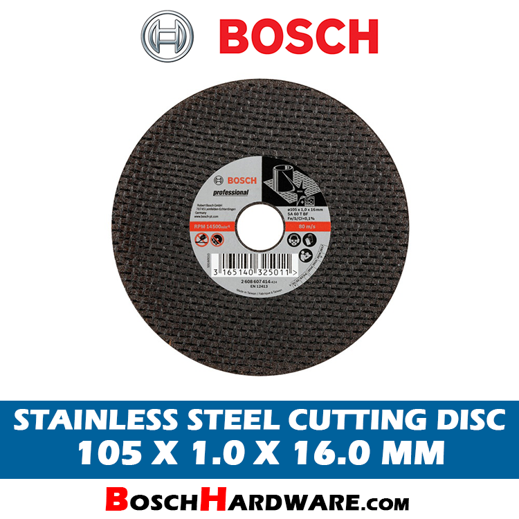 Bosch Stainless Steel Cutting Disc 4 inch 2608607414