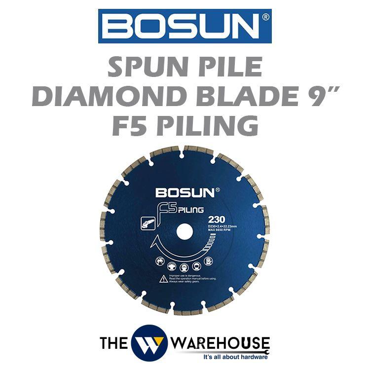 Bosun Spun Pile Diamond Blade 9
