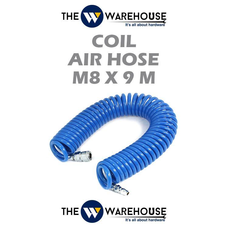 Coil Air Hose M8 x 9M