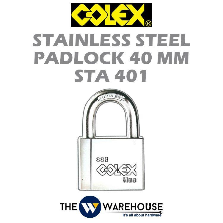 Colex Stainless Steel Padlock STA401
