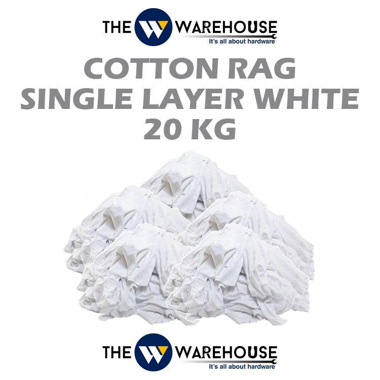 Cotton Rag Single Layer - White