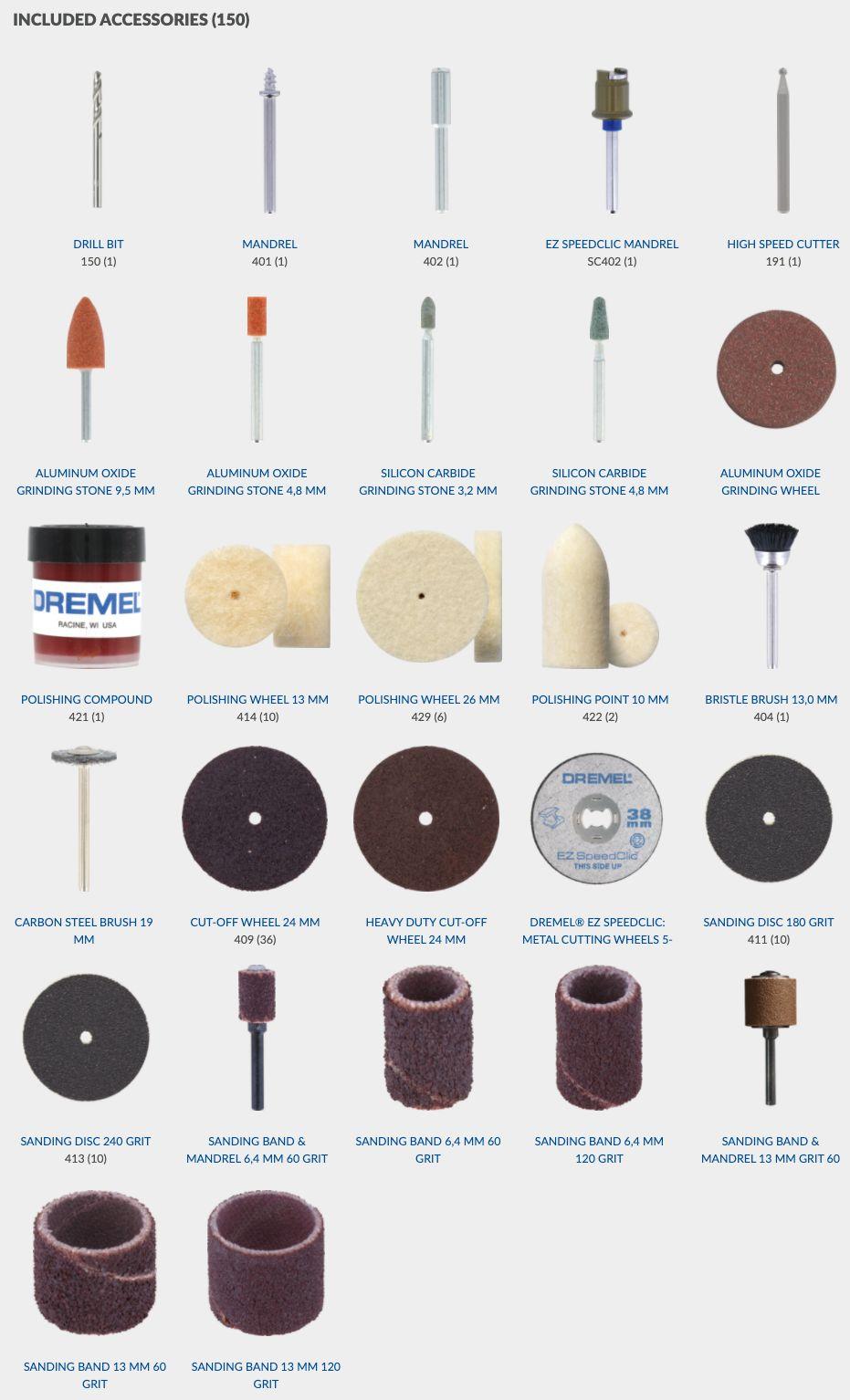 Dremel 150 pcs Accessories Set 724-150