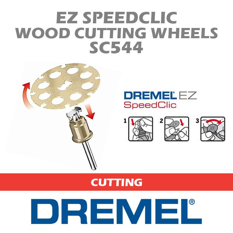 Dremel SC544 EZ SpeedClic Wood Cutting Wheels