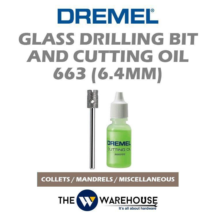 Dremel Glass Drilling Bit & Cutting Oil 663