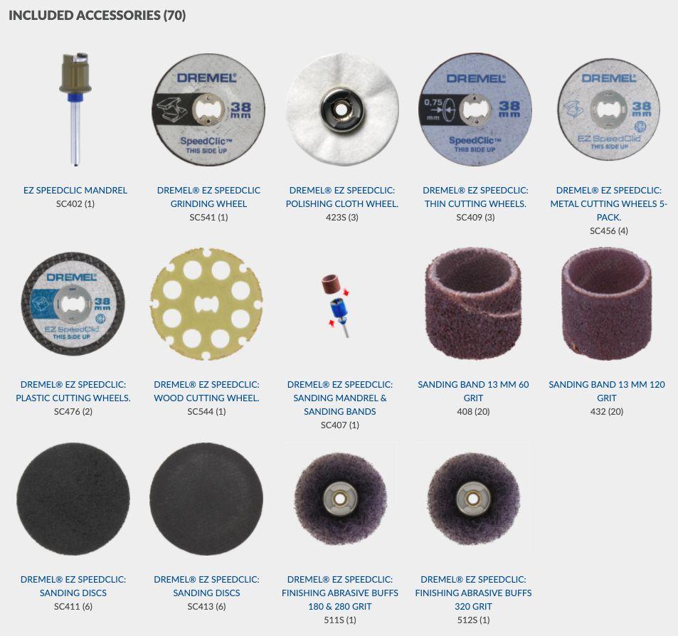 Dremel 70 pcs EZ Speedclic Accessories Set SC725