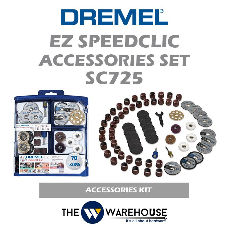 Dremel 70 pcs EZ Speedclic Accessories Set SC725