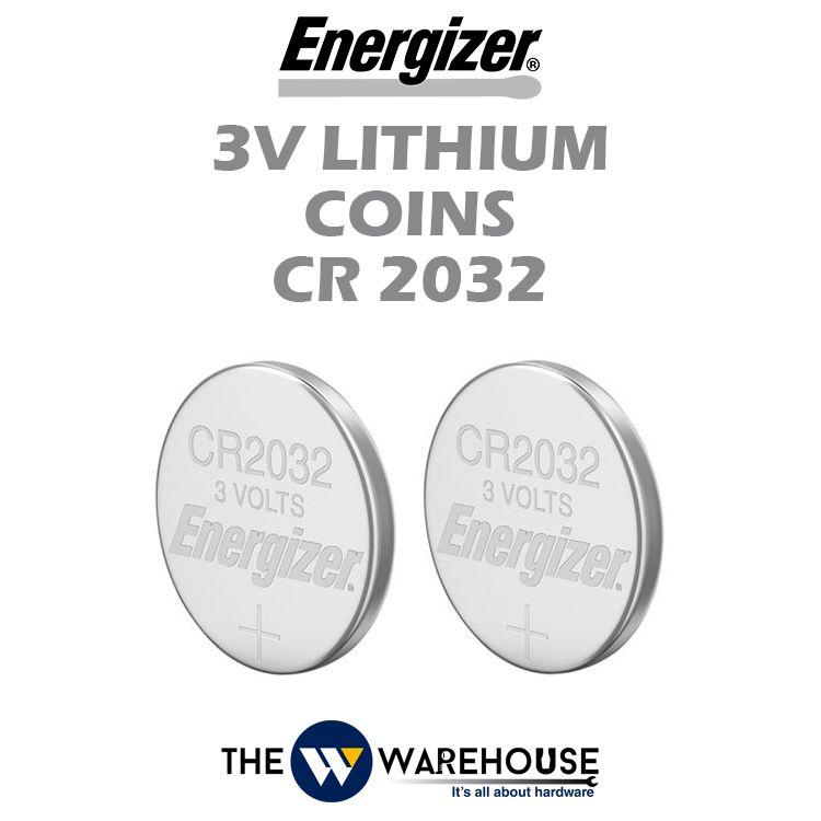 Energizer 3V Lithium Coins CR2032 2pcs