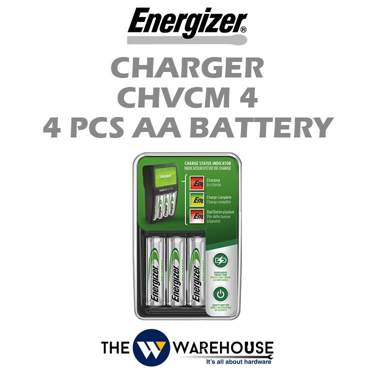 Energizer Charger CHVCM4 with 4pcs AA Battery