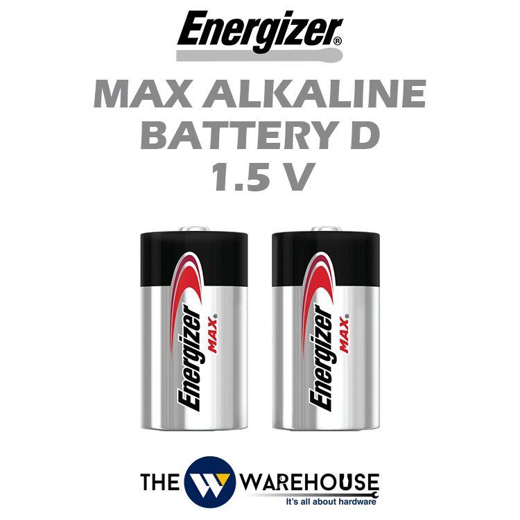 Energizer Max Alkaline Battery D 1.5V