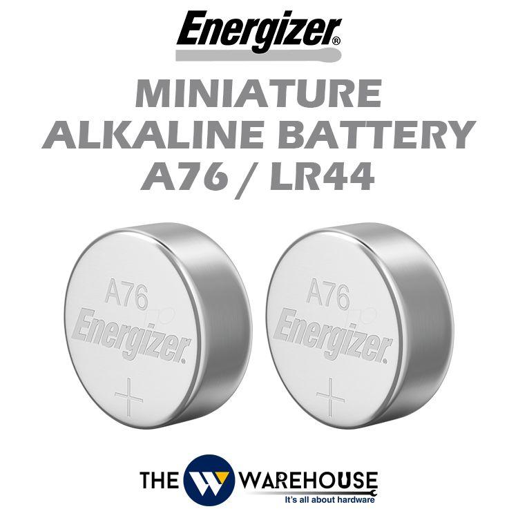Energizer Miniature Alkaline Battery A76/LR44 2pcs