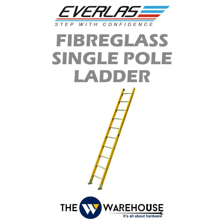 Everlas Fibreglass Single Pole Ladder FGS Series