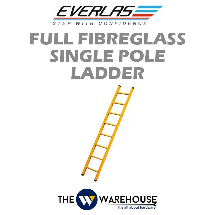 Everlas Full Fibreglass Single Pole Ladder FFG Series