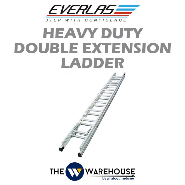 Everlas Heavy Duty Double Extension Ladder ED Series